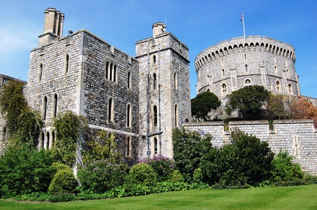 queen elizabeth: WINDSOR, ENGLAND - APRIL 27 : The Windsor Castle in the English county of Berkshire in the UK on April 27, 2008 in Windsor, United Kingdom.