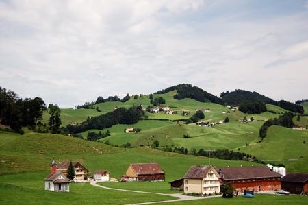 Classic Switzerland hilly countryside  photo