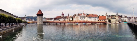 lucerne: Panoramic view of Lucerne in Switzerland