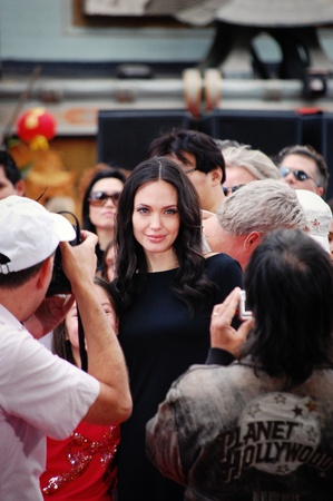 HOLLYWOOD - NOVEMBER 9, 2008: Angelina Jolie arrives at DreamWorks Animation Editorial