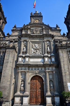 Front facade Mexico City Metropolitan Cathedral photo