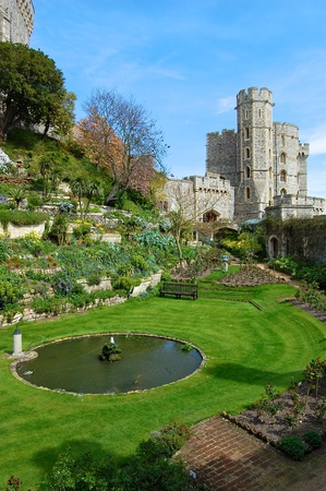windsor: Gardens at Windsor Castle, England