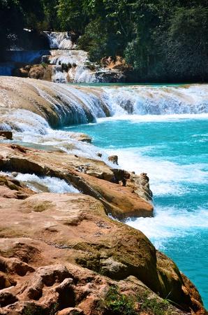 azul: Agua Azul waterfalls in Mexico
