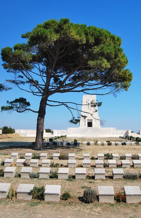 anzac: The Lone Pine Memorial at the Gallipoli Battlefields in Turkey.