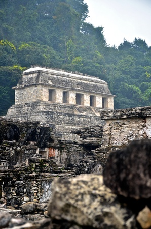 Looking through the ruins at Palenque. photo