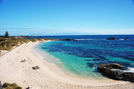 perth: Beautiful beach on Rottnest Island, off the coast of Perth, Australia. Stock Photo