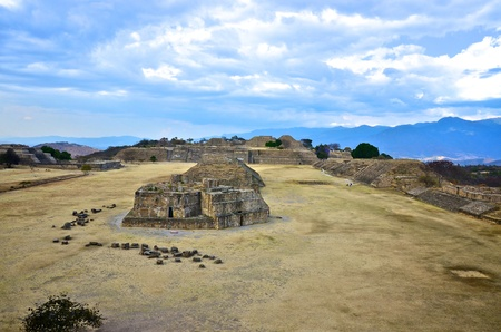 Panoramic view of Monte Alban ruins, Mexico photo