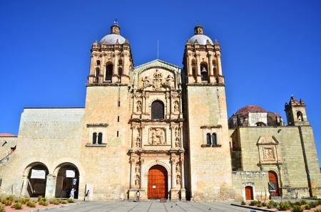 santo: Santo Domingo Church in Oaxaca front view  Stock Photo