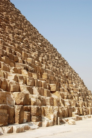 The huge blocks at the base of the Great Pyramid. photo