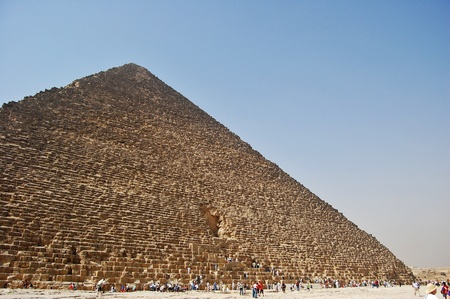Wide angled view of the Great Pyramid of Giza, Egypt. photo
