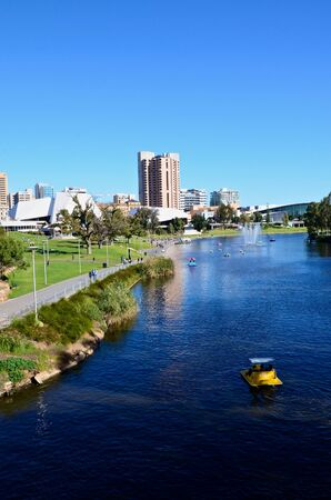 View of Adelaide and Torrens River Stock Photo - 11520900