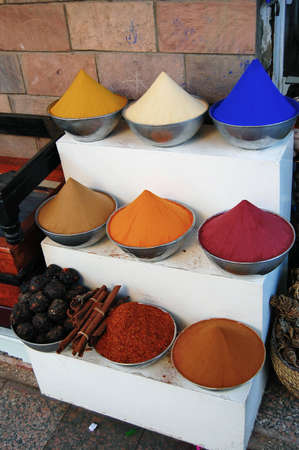 Various colourful spices for sale at an Egyptian market   photo