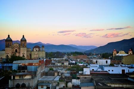 oaxaca: Oaxaca city view during sunset