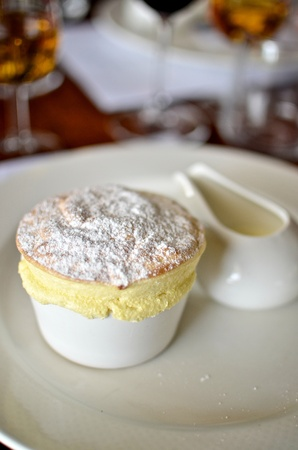 souffle: Passionfruit Souffl� with Pouring Cream