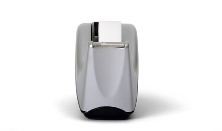 Front view of sticky tape dispenser on white background  photo