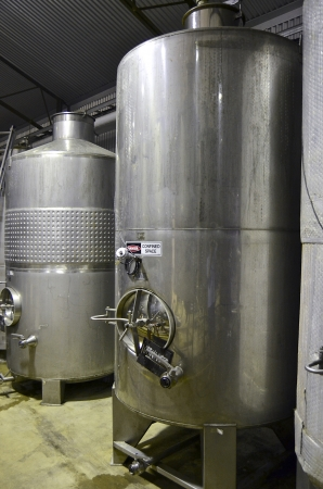 vats: Close up of wine vats at a winery in the Adelaide Hills, South Australia