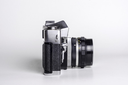 Vintage SLR camera right side view