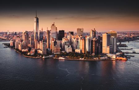 new york city skyline aerial view Reklamní fotografie