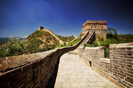 great wall: The Great Wall of China near Jinshanling