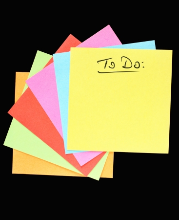do: A To Do list conept with colorful paper notes