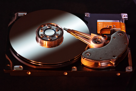 storage disk: Hard disk drive Stock Photo