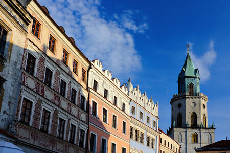 lublin: Historic building in old town Lublin, Poland Stock Photo