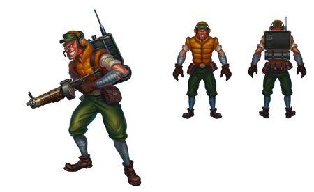 scout officer. computer character concept. funny cartoon character