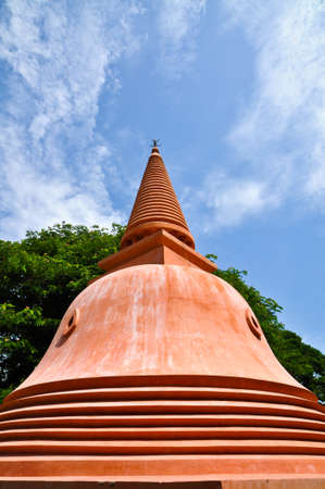 the stupa: Buddhist stupa Stock Photo