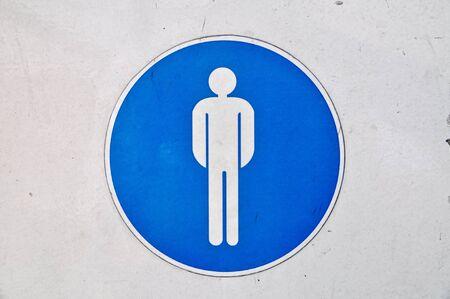 men toilet label Stock Photo - 7341598