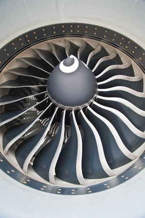 turbine blades of an aircraft jet engine Stock Photo - 9614230