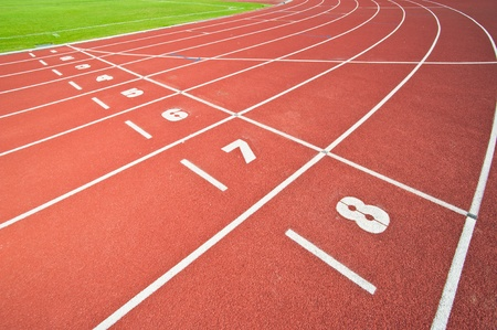 Abstract view of running track Stock Photo - 9614481