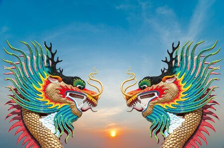 Beautiful dragon with blue sky  photo