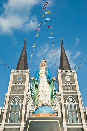 Virgin Mary Statue at Chanthaburi Province, Thailand. (The Cathedral of the Immaculate Conception)  photo