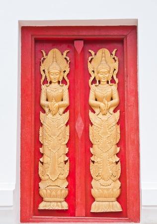 Texture of door in Thai temple  photo
