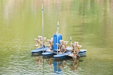 paddle wheel: Paddle Wheel Aerator  Stock Photo