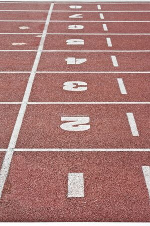 Abstract view of running track  photo
