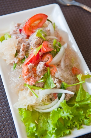 Thai seafood spicy salad Stock Photo - 9755320