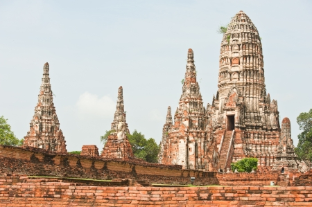 buddhist temple: Pagoda at Wat Chaiwattanaram Temple, Ayutthaya, Thailand