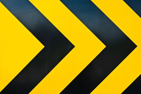 road barrier:  yellow and black marking