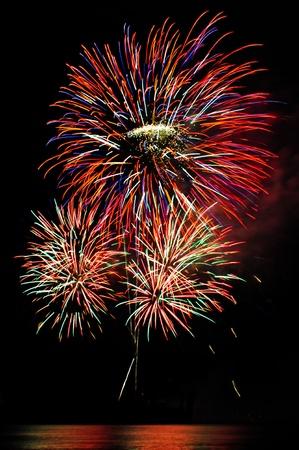 aerial bomb:  Fireworks display  Stock Photo