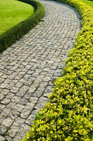 Stone walkway in garden Stock Photo - 9938433