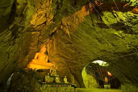 image of buddha in the cave , Saraburi Province,Thailand