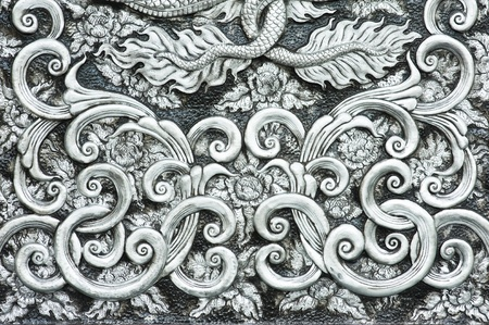 carved: texture of silver metal plate