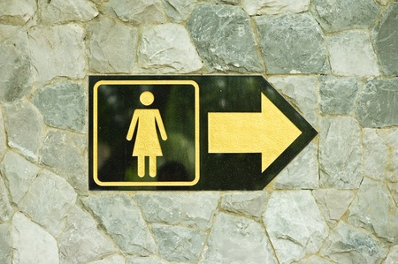 Sign of public toilets WC restroom for women  photo