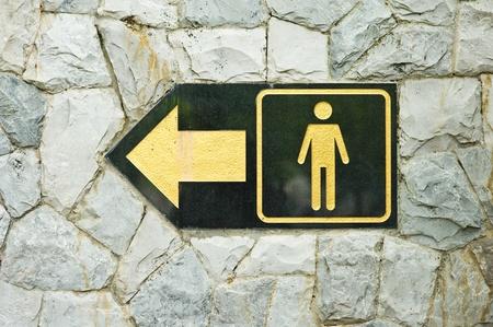 Sign of public toilets WC restroom for men  photo