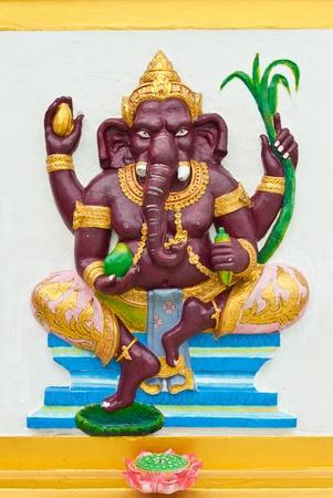 siddhivinayaka: Indian or Hindu God Named Bala Ganapati at Wat Saman, Chachoengsao, Thailand