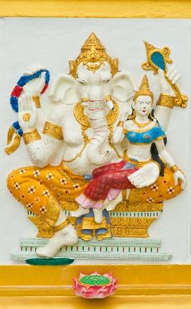shakti: Indian or Hindu God Named Shakti Ganapati at Wat Saman, Chachoengsao, Thailand