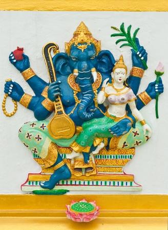 siddhivinayaka: Indian or Hindu God Named Uchchishta Ganapati at Wat Saman, Chachoengsao, Thailand