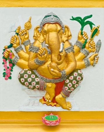trust in god: Indian or Hindu God Named Vighna Ganapati at Wat Saman, Chachoengsao, Thailand
