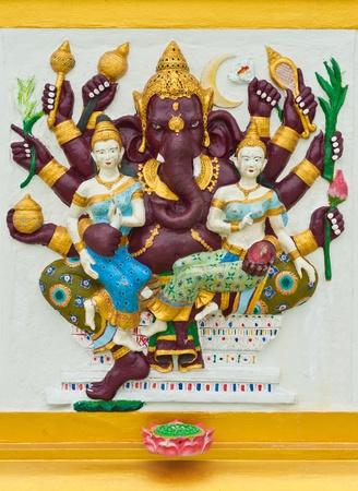 siddhivinayaka: Indian or Hindu God Named Maha Ganapati at Wat Saman, Chachoengsao, Thailand